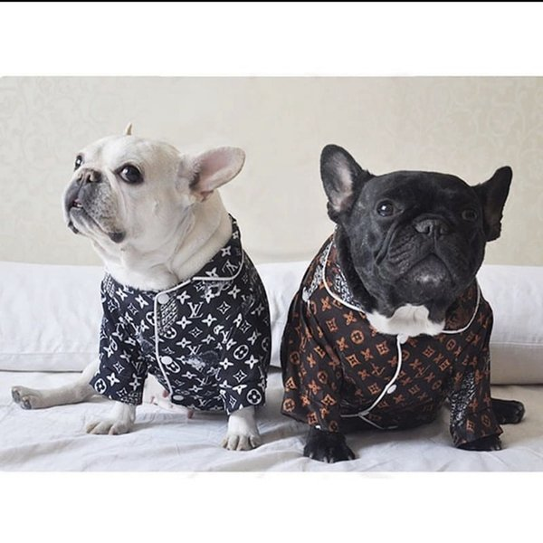 Brand pet dog animal pajamas pet clothes luxury design law bucket Teddy Corgi Tobago Shiba Inu net red dress shirt pet supplies Y1