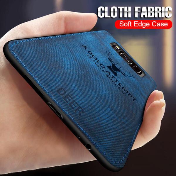Yumuşak Bez Case Arka Kapak Için Samsung Galaxy S7 Kenar S9 S8 Not 9 8 Tam Telefon Kılıfı Için Samsung Artı Darbeye Vaka iphone için koruyucusu