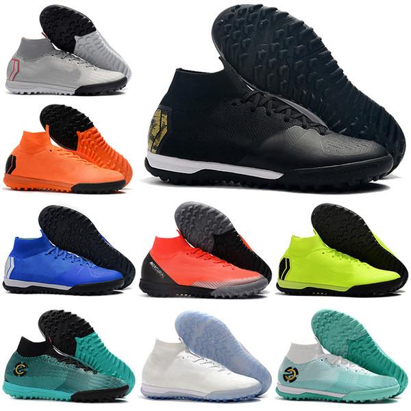2019 nouveaux hommes haute chaussures de football CR7 Mercurial SuperflyX 6 Elite IC TF chaussures de football Neymar Superfly VI chaussures de football intérieur de gazon