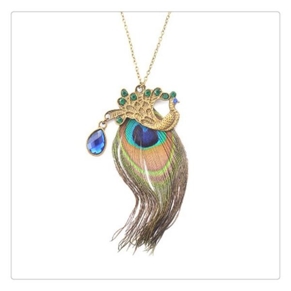 Peacock Necklace Stylish Phoenix Sweater Chain Ornament Christmas New Year Birthday For Girls Women Elegant Wonderful