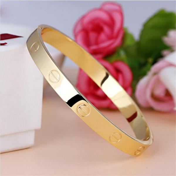 2018 Модные розового золота Серебряный браслет для женщин браслет любовника браслет ювелирных изделий сплава цинка Любовь браслет Pulseiras