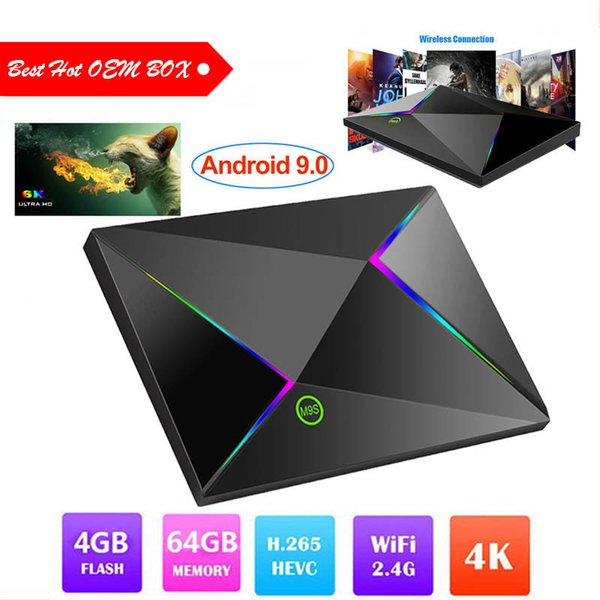 Best sellers M9S Z8 Android 9.0 TV Box With H6 Quad Core CPU 4GB 32GB 64GB Streaming Media Player Support 2.4G Wifi IPTV BOX