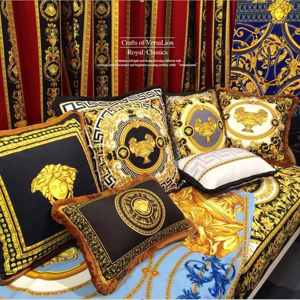 mullida almohada cintura alta cojines cubierta nueva de regalo almohadas casa sofá cintura del amortiguador de la almohadilla del modelo de lujo de Europa