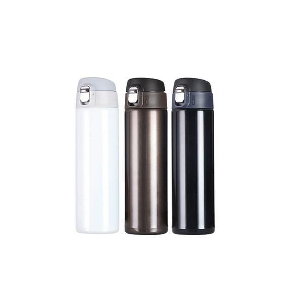 500 ml doppelwandige Vakuum-Wasserflaschen Isolierte Edelstahl-Direkt-Trinkwasserflaschen Outdoor-Sportflasche