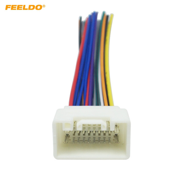 2019 FEELDO Car Radio Stereo Wiring Harness Adapter For Mitsubishi on