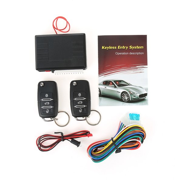 Universal car alarm system with flip key Remote control central door locking keyless entry remote trunk release anti theft