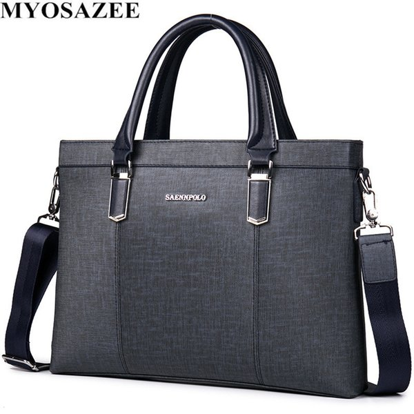 MYOSAZEE Classic Design Male PU Leather Briefcases Men Casual Business Bags Male Office Briefcase Bags Laptop Bag Travel #292193