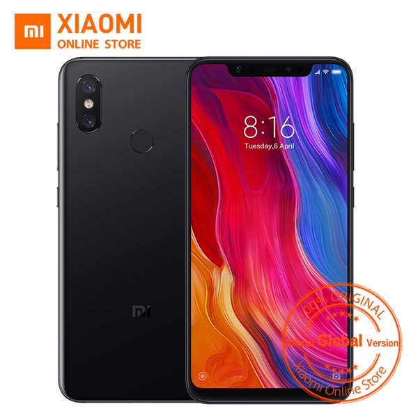 "Global Version Xiaomi Mi 8 6.21"" Full Screen 6GB 64GB Snapdragon 845 Octa Core AI Dual Camera NFC IR Face Unlock Mi8 Smartphone"