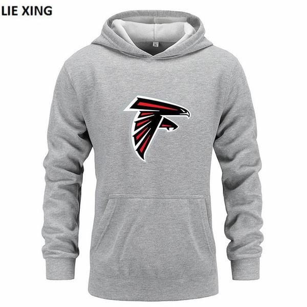 Mode Männer Sweatshirts Heißer 2019 Neue ATLANTA Falcons Print Harajuku Pullover Langarm Baumwolle Männlichen Hoody Kleidung