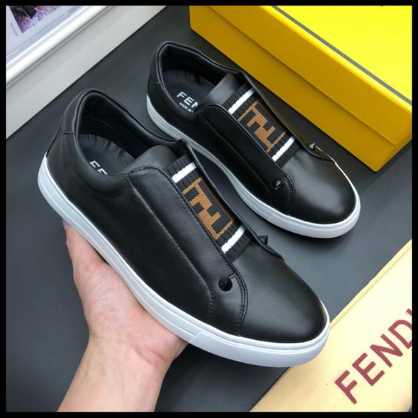Top qualité grande taille 38-45 designer de luxe chaussures en cuir ace mens chaussures, plus la taille des chaussures de sport de luxe avec boîte sac à poussière G01