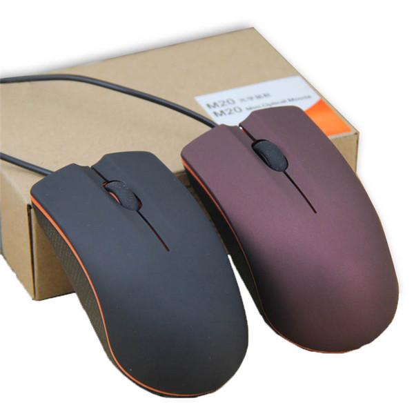 Lenovo M20 Mini Wired 3D Optische USB Gaming Mäusemäuse Für Computer Laptop Game Mouse mit Kleinkasten