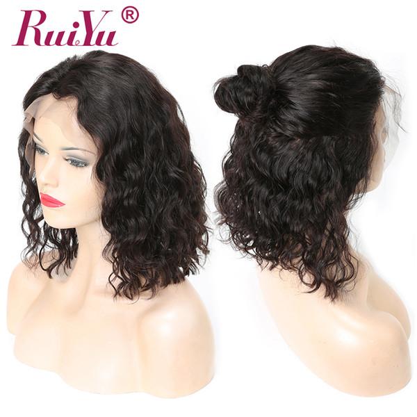 Kurze Bob Perücken Curly Lace Front Echthaar Perücken für schwarze Frauen Pre gezupft mit Babyhaar natürliche Welle brasilianische Remy Perücken Ruiyu