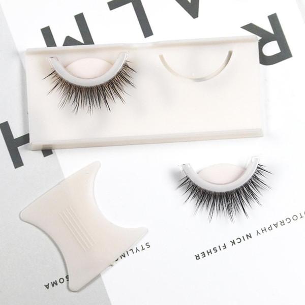 35 # New Beauty 1 Paar 3D-Faux-Nerz Wiederverwendbare Natürliche Curly Thick Selbstklebende falsche falschen Wimpern
