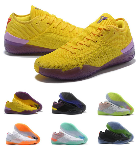 Hot Kobe 360 NXT A.D. React Mens Basketball Shoes Yellow Strike Derozan Mamba Day bryant Top Quality Multicolor More Color US7-US12