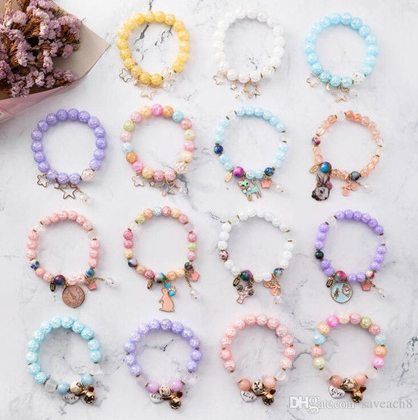 Crystal Beads Charms Bracelet for Women Girls Pentagram Star Pendants Bracelet for Women Girls With Ethnic Jewelry