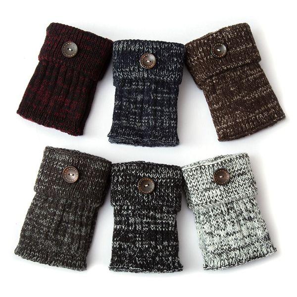 1 pair yoga socks cover shoe boot socks leg warmerss women short button decorative thermal acrylic knitted boot cuffs leg warmer thumbnail