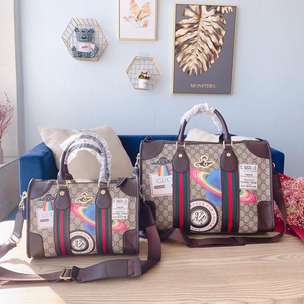 Высокое качество окрашены моды большой емкость дорожной сумки мужского дизайнер новая прочные аппаратные средства декоративной плеча сумочка