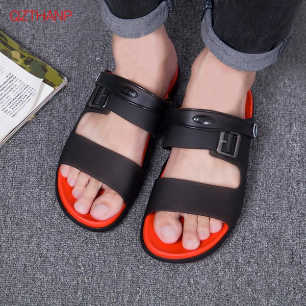 Beach Slippers Anti Slip Open Toe Flip Flops Male Slippers Summer Shoes Men Flats Sandals Casual Outdoor Zapatos Para Hombre