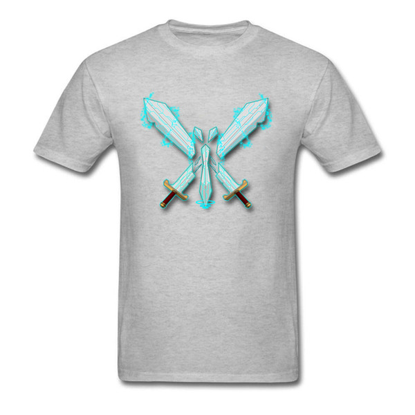Geek Video Game Logo Revamp 2018 GG T Shirts For Men Custom Fashion Grey T-shirt Mens Summer Streetwear 3D Swords Anime