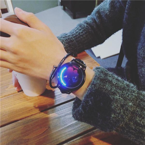 Женщины мужчины наручные часы звездная кожа пространство световой для часов унисекс небо Кварцевые наручные