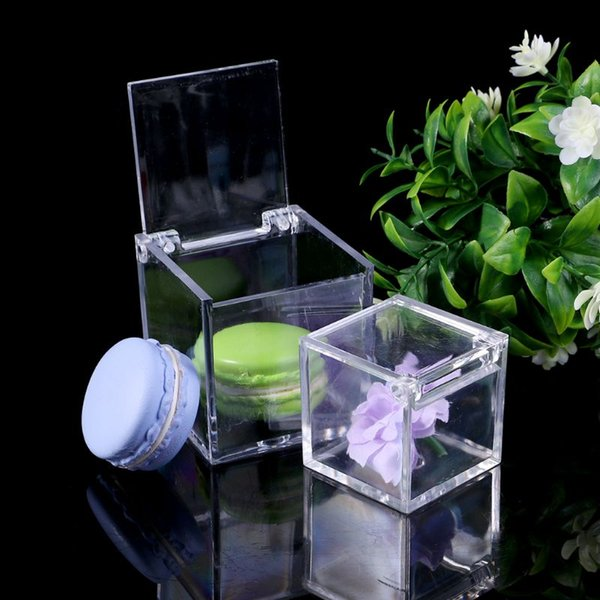Transparent Cube Wedding Favor Candy Box Plastic Transparent Clear Gift Boxes Christmas Baby Shower