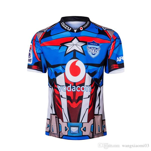 Super Rugby BULLS 2019 MARVEL SUPER RUGBY JERSEY Size: S-3XL Print custom name number The quality is perfect. Free Delivery