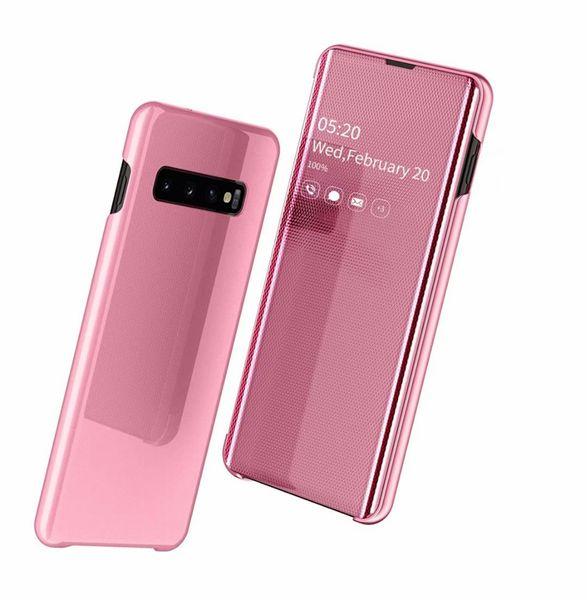 Official Case For Samsung S10 Plus S10e Cases 4 Gen Mirror Plastic Leather Wallet Luxury Transparent Flip Cover Mobile Phone Pouch