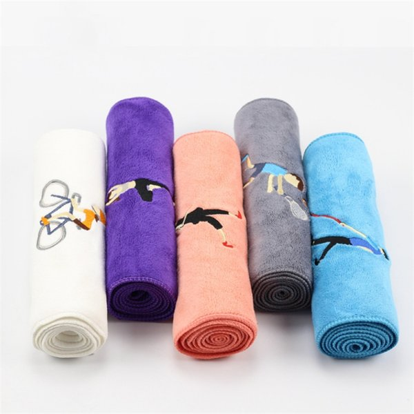 Производители оптового новое вышитое микроволокно спорт полотенце 25 * 110 удлинили работает полотенце