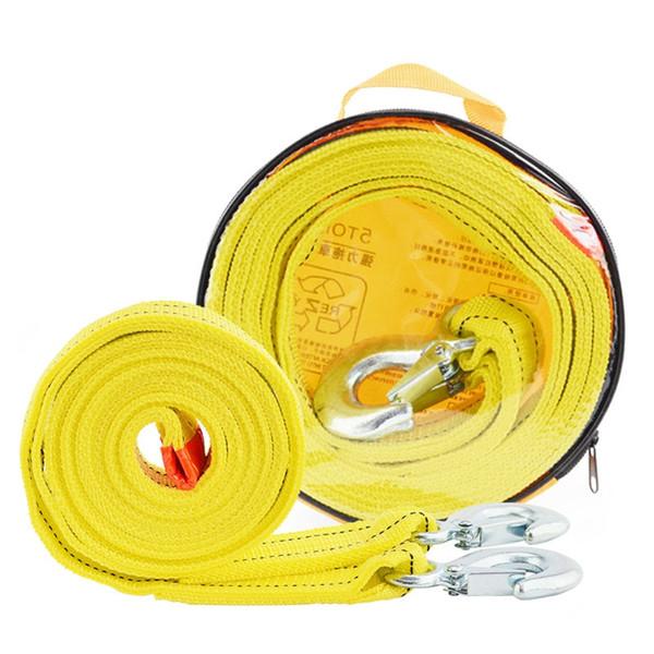 4M 5T Cable de remolque de correa de cuerda de remolque para automóvil con ganchos de servicio pesado de emergencia 5 toneladas