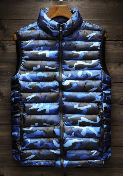 Chaleco de tendencia para hombre Chaleco de camuflaje de invierno Chaleco de moda cálido y cómodo talla L - 4XL