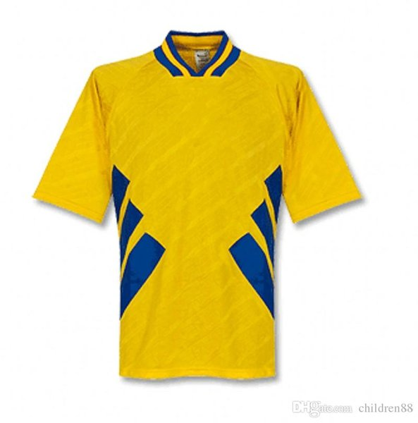 1994 for Sweden retro soccer jerseys DAHLIN LARSSON BROLIN INGESSON vintage Shirts yellow uniform national football team home soccer outfits