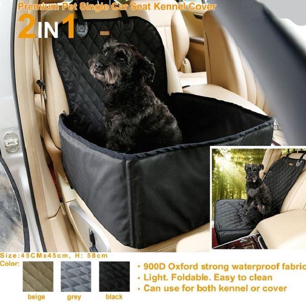 New Waterproof Dog Bag Pet Car Carrier Dog Carry Bag Storage Booster siège housse de siège pour Voyage 2 En 1 Carrier Bucket Basket