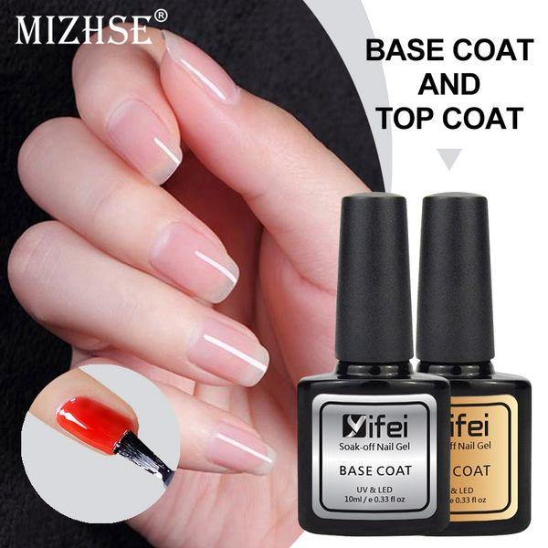 YIFEI 10мл грунтовка для ногтей Длительный базовый набор для ногтей Лак для ногтей Замочите от УФ-гель-лака Конец-гель Полуперманентный гель-лак