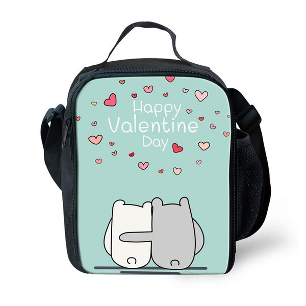 THIKIN Valentine's day theme Keep Warm Lunch Bags for Women 3D Prints Valentine Gift Family Weekend Picnic Bag Insulated Thermal