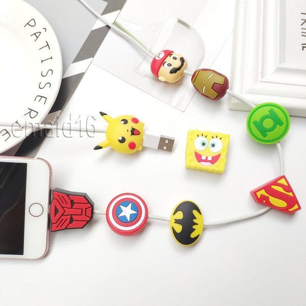 Новый супер герой Кабель мультфильм Bite Cable Protector Data Line Savor Для iphone 6 7 8 x XR XS Max Samsung телефон
