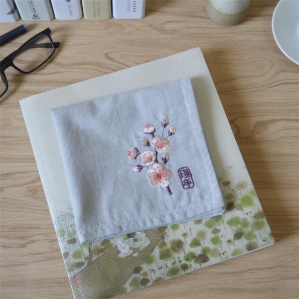 Fleurs en jin Noël coton broderie fleur jolie femme littérature rétro mouchoir monogrammé pour cadeaux de mariage