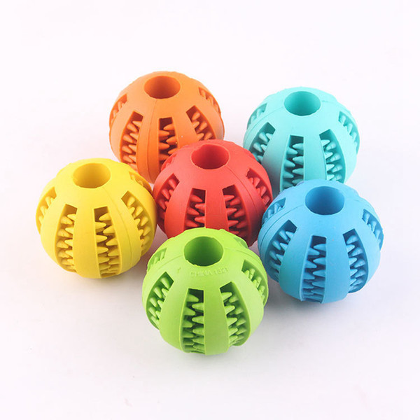 Pet Dog Toy Rubber Ball Toy diameter 5cm Funning ABS Silicone Pet Toys Ball Chew Tooth Cleaning Balls Garden Tool AAA2095