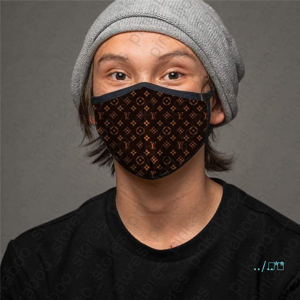 top popular Reusable Masks Washable Breathable Face Mask Printing Adults Unisex Sunproof Anti-dust Cycling Sports Mouth Masks Fashion 6 Colors D41006 2020