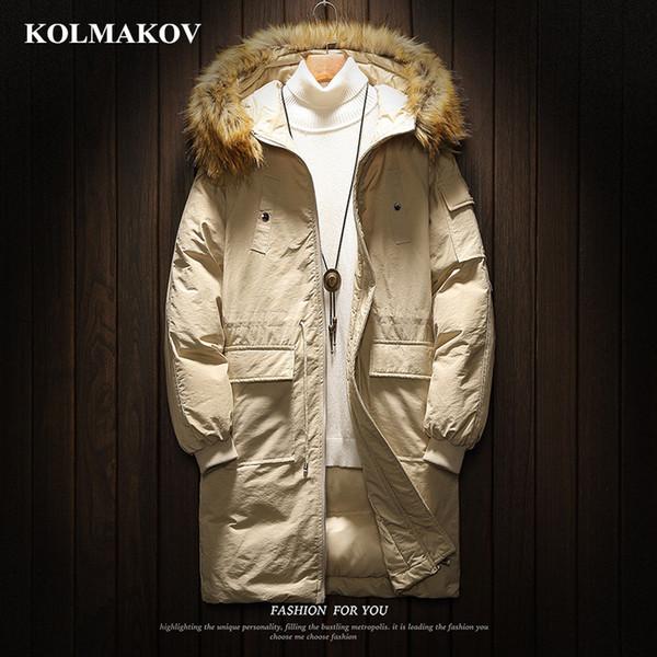 KOLMAKOV Men's Clothing NEW Mens Hooded Parkas Winter Thicken Cotton Coats Large Size M-5XL Parka Jackets Causal Loose Dress Men