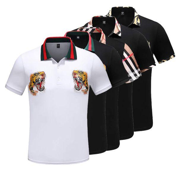 NEW 2019 Medusa poloshirt Italien Polo Luxe Kurzarm Herrenhemden Mode Herren Sweatshirts Männer Casual T-Shirt