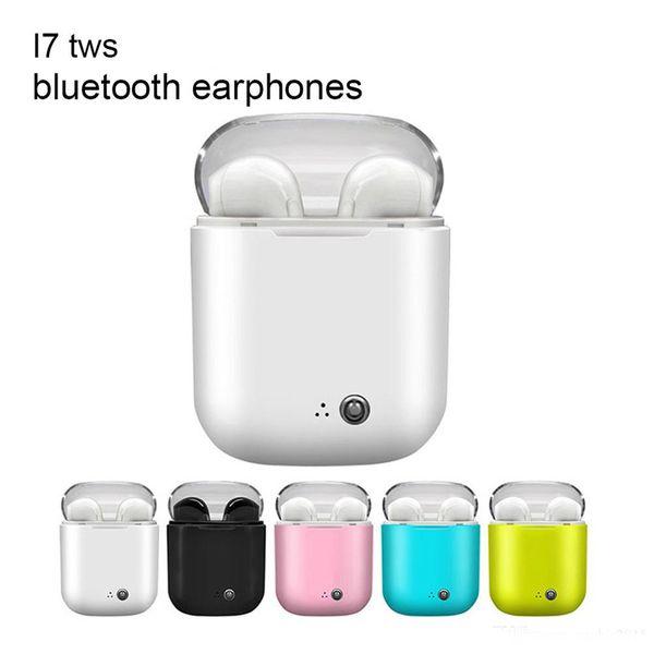 I7s TWS Bluetooth Écouteur Stéréo Earbud Bluetooth Casque avec Chargement Casques Sans Fil pour iphone 7S