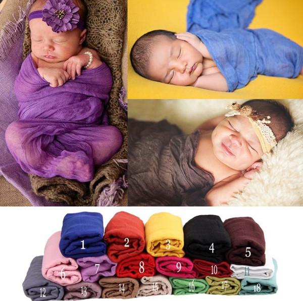 Venta al por mayor recién nacido accesorios de fotografía traje de bebé traje 180 cm largo algodón suave foto abrigo a juego bebé foto apoyos fotografia