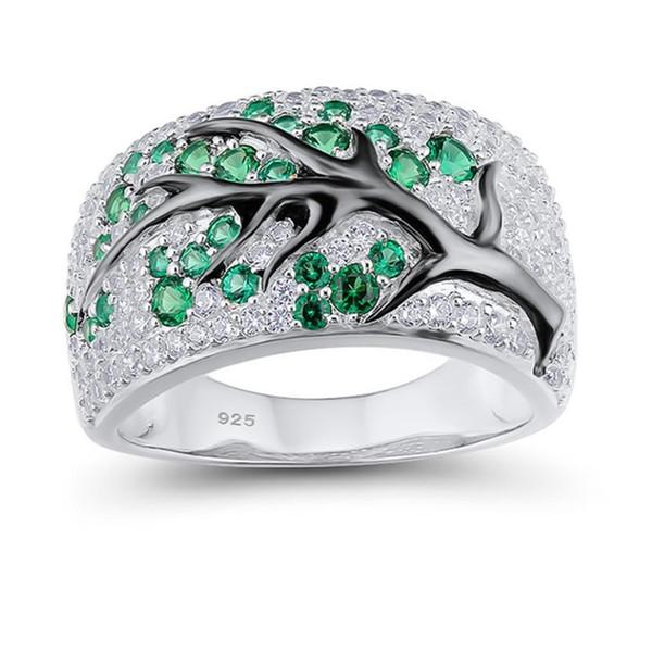 Mode Silber Überzogene Ast Ringe Für Frauen Kreative Voller Zirkon Strass Hochzeit Ringe Partei Schmuck
