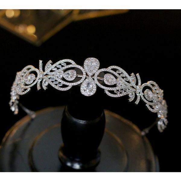 Wholesale Fashion Metal Crystal Headband Head Piece Hair Band Jewelry for Girl