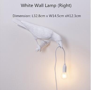 흰 벽 램프 (오른쪽)