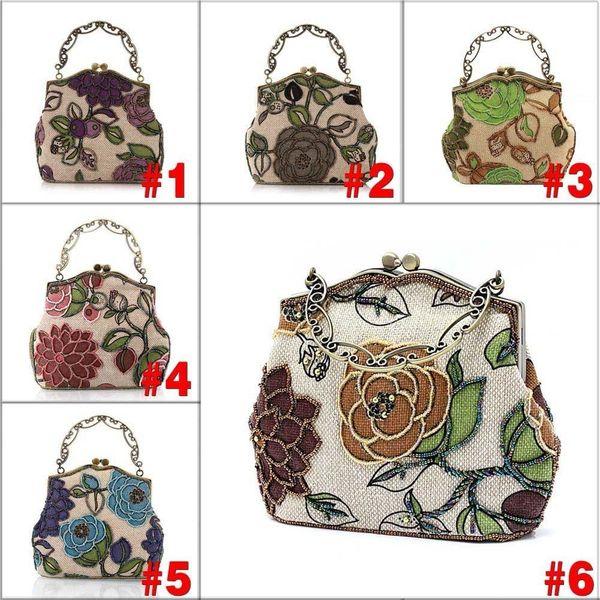 2019 Chinese Vintage Style Moonflower Beaded Bag Old Shanghai Handbags Cheongsam Matched Bag Lady Dinner Bags Agd Fab Women Bag