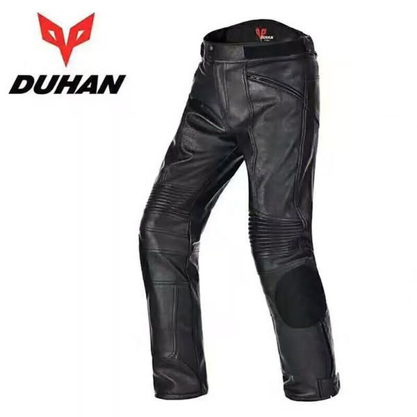 Erkek Motosiklet PU Deri Pantolon Motocross su geçirmez pantolon Dirt Bike Pantolon Yarış Sürme rüzgar geçirmez Moto Koruyucu