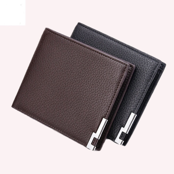Men Wallet Leather Thin Small Male Wallets Mini Short Leather Id Card Holder Carteira Masculina Mens Wallet Leather Genuine