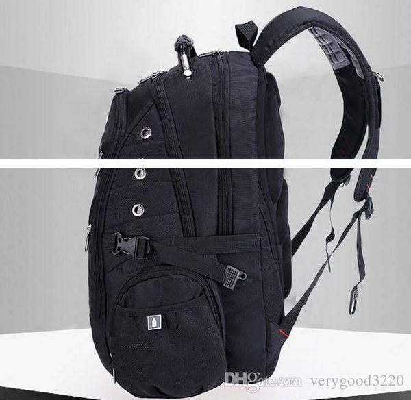 Wholesale- Top quality Swiss Multifunctional laptop bag Backpack for 15.6 inch laptop Schoolbag Travel Bags