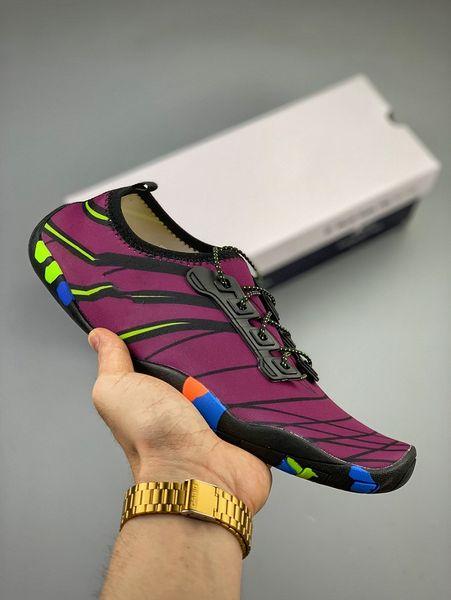 (AVEC BOÎTE) Nouvelles chaussures pour hommes et femmes en plein air Barefoot Soft Yoga Fitness Slip-on Water Chaussures unisexe d'été plage natation Sneakers chaussures pour enfants